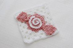 Crochet Candy Granny Square   Bake Shop Blanket Series   Sewrella