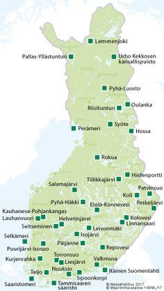 Kansallispuistot - Luontoon.fi