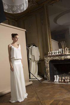 Célestin crepe top and Eugène skirt / Top en crêpe Célestin et jupe Eugène #2014collection
