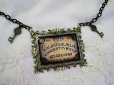 Ouija Board Ornate Bronze Necklace by PrettiesForYouShop on Etsy, $16.00