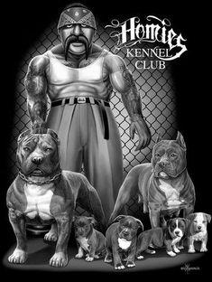 david gonzales art | Homies T Shirt Kennel Club by David Gonzales Art New Chicano Rap ...
