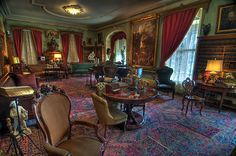 Formal Parlor Living Room 1800's Home  Seward House, A National Historic Landmark, Auburn, New York