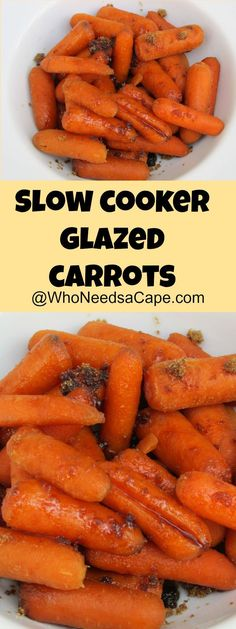 Slow Cooker Glazed Carrots are the best way to add a tasty side to big holiday meals. A easy vegetable dish that's family friendly!