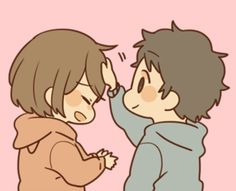 Obediently Sticker to convey feelings Cute Couple Sketches, Cute Chibi Couple, Cute Couple Poses, Cute Couple Art, Cute Cartoon Drawings, Kawaii Drawings, Mini Drawings, Itachi, Anime Chibi