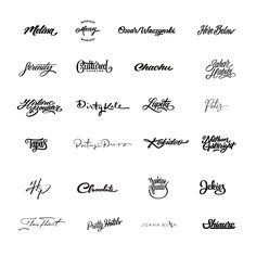 Lettering logo's collection that I made in year of 15-16 Th.  You can check whole collection here: https://www.behance.net/gallery/43634703/Letterings-Logos