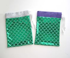 Mermaid Party Favor Bags on Etsy, $3.00