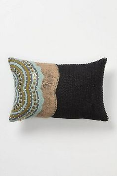 My fav!! I love this and will make it with mixed fabric, felt, burlap and beads. Gather & Glean Pillow