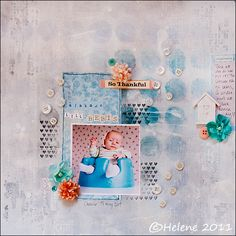 Lots of gesso, misting etc WebM.Helenes: Click for more layouts, all in Norwegian? Some are adorable.