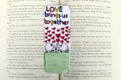 Elephant Love Bookmark, Love Bookmark, Elephant Bookmark, Kid's Bookmark, Motivational Bookmark, Inspirational Bookmark, Stocking Stuffer by DivinitysDivineTouch on Etsy