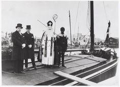 Sinterklaas en zwarte Piet, Tilburg ca. 1950