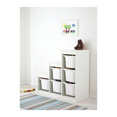 TROFAST Storage combination with boxes, white 39x17 3/8x37