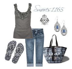 """""""Leopard Flip Flops"""" by smores1165 ❤ liked on Polyvore"""