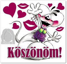 ƸӜƷ❀ KÖSZÖNÖM!! ❀ƸӜƷ - alliteracio oldala Betty Boop, Holidays And Events, Emoji, Minnie Mouse, Disney Characters, Fictional Characters, Owl, Thankful, Snoopy