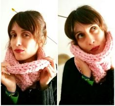 Knitting circle scarf..