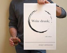 Literature Quote Illustrations. - L'artiste Evan Robertson a pensé une série d'illustrations éditées en posters se basant sur des citations célèbres de grands noms de la littérature.