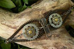 Steampunk Bracelet Zipper Bracelet YOLO by PeteAndVeronicas