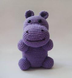 Bamboo Cotton Purple Hippopotamus  #nursery plush toy children