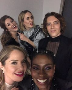 American Horror Story Funny, Ahs Cast, Casting Pics, Billie Lourd, Evan Peters, Movies Showing, Horror Stories, Ferns, Apocalypse