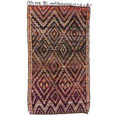 20090 Vintage Moroccan Azilal Protection Rug