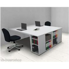 Schreibtisch Doppelarbeitsplatz Schreibtischkombination Doppelschreibtisch Büro