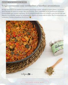 Ya en el blog la receta de Trigo sarraceno con verduritas y hierbas aromáticas @alasature . Un plato espectacular con este pseudocereal libre de gluten y tan bueno para nuestro organismo.