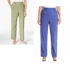 Alfred Dunner Womens Pants Pull On Cyprus size 8  10 12P 14 18P 18 NEW 16.99 https://www.ebay.com/itm/263277953468
