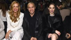 Petra Nemcova, Peter Wentz and Coco Rocha front row at BCBG Max Azria