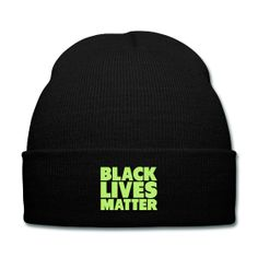 Black Lives Matter (Neon Green Graphic) Black Knit Cap - This practical beanie does exactly what you think it will – keep your head warm when it's getting colder out there. And your ears will thank you for wearing it as well. The hat is easy to wear and just as easy to stow away in your pocket or bag. One size fits all. 100% acrylic.