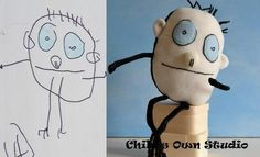 child's own studio creates stuffed animals out of kid's artwork