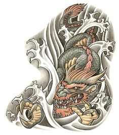 Gleaming Japanese Koi Dragon Tattoo Designs » Picture 29