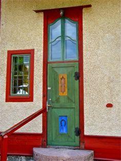 Carl Larsson's door at Sundborn, Sweden
