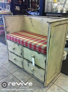 dresser converted into shoe bench - Google Search