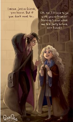 Harry and Luna - Them attending Slughorn's Christmas party together was truly a top 5 moment.