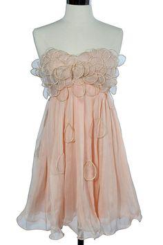 pale peach petal dress