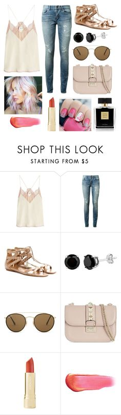 """""""Untitled #251"""" by vinisidhwani ❤ liked on Polyvore featuring Zadig & Voltaire, Yves Saint Laurent, Aquazzura, Ray-Ban, Valentino, Avon, Axiology and e.l.f."""