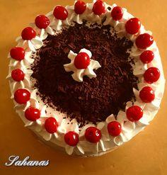 CLASSIC EGGLESS BLACK FOREST CAKE Eggless Recipes, Eggless Baking, Baking Recipes, Cake Recipes, Dessert Recipes, Eggless Chocolate Cake, Basic Cake, Black Forest Cake, Piece Of Cakes