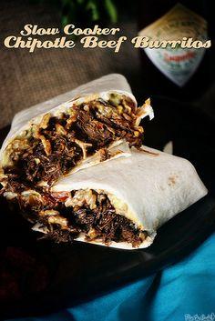 Slow Cooker Chipotle Beef Burritos