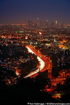Los Angeles- imagine sitting up on a hill with someone you love, looking down on this:)