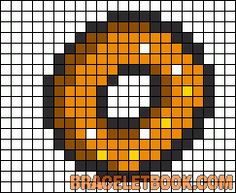 Free Cake Hama Perler Bead Pattern or Cross Stitch Chart