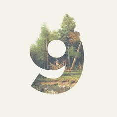 Beautifully done...love how the trees are creating the top of the number