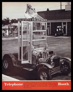 """Telephone Booth"" Show Car, 1971 by Cosmo Lutz, via Flickr"