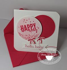 Yvonne is Stampin\' & Scrapping: Stampin\' Up! Celebrate Today baby card