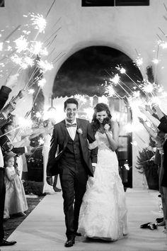 Amazing Wedding Sparkler Exits