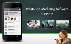 Use WhatsApp Marketing Software Supports for as advertising and campaigns with videos, images, GIFs, text documents, visiting cards and location services. Marketing Software, Social Media Marketing, Whatsapp Marketing, Software Support, Promote Your Business, Campaign, Gifs, Advertising, Photo And Video