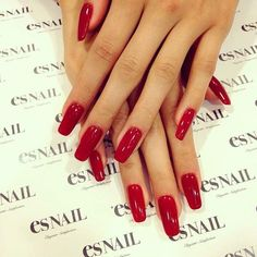 red nails - they're perfect! <3