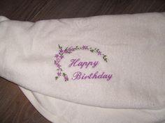 handdoek met Happy Birthday