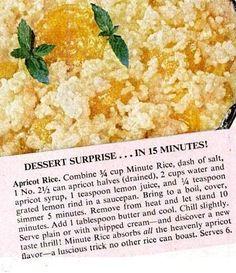 Apricot Rice   Retro Recipe Attempts
