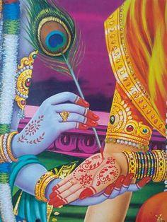 Mehndi by Beloved Lord Krishna Images, Radha Krishna Pictures, Radha Krishna Photo, Krishna Radha, Radha Rani, Krishna Photos, Durga, Krishna Leela, Cute Krishna