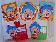 Tarjetas Invitación Payaso Plim Google, Bag Packaging, Farm Animal Party, Invitation Cards, Bebe