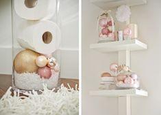 blush valentine bathroom decor